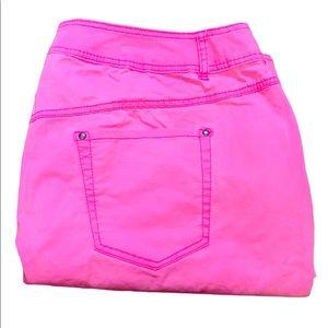 Lane Bryant Neon Pink skinny pants size 26 women